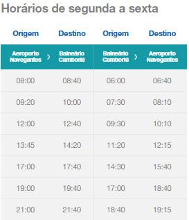 Confira os horários dos ônibus: Navegantes - Balneário Camboriú