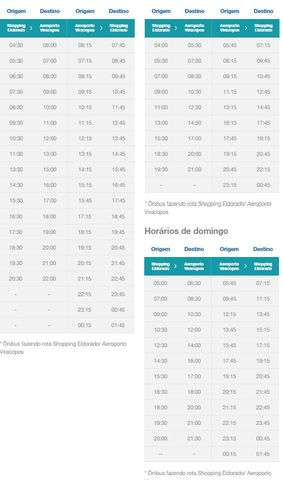 Confira os horários dos ônibus: Shopping Eldorado